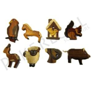Imanes madera animales de montaña