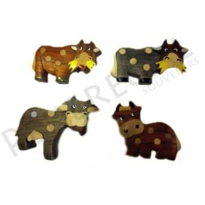 Imanes madera vacas