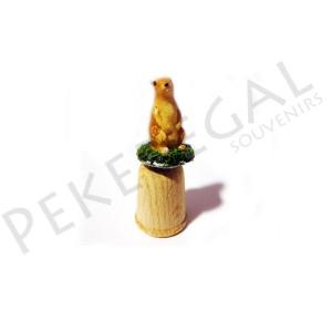 Dedal madera figura marmota