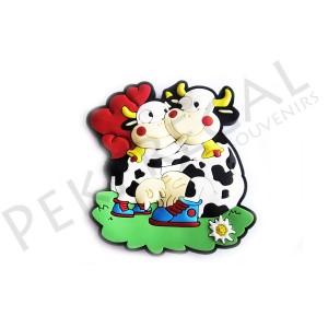 Imanes goma pareja de vacas