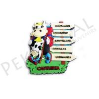 Imanes goma vaca 5 caminos Cantabria