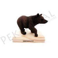 Figura oso con base de madera