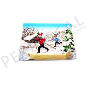 Imanes resina niños esquí de fondo
