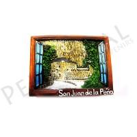 Imanes resina ventana San Juan de la Peña