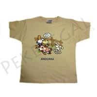Camisetas manga corta transfer Vaca con móbil