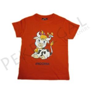 Camisetas manga corta transfer Vaca mona