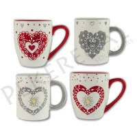 Mug relieve Edelweiss