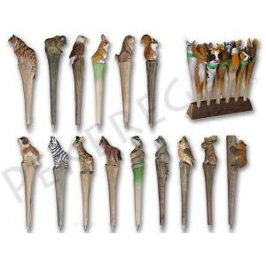 Bolígrafos madera de animales