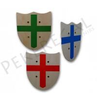 Escudos de madera con cruz