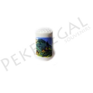 Dedal de porcelana de pueblo de montaña