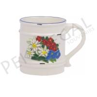 Taza cerámica flor de nieve