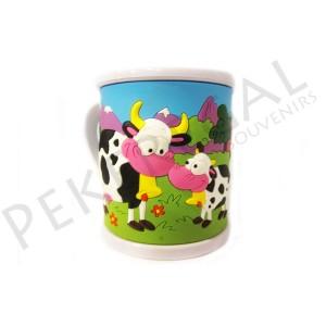 Taza plástico Vacas